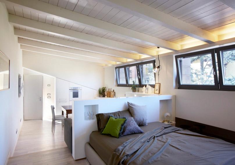 Contini arredamentoun loft per il weekend contini for Arredamento per sottotetto