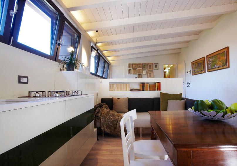 Cool home progetto e fornitura arredamento un loft per il for Arredamento rustico industriale