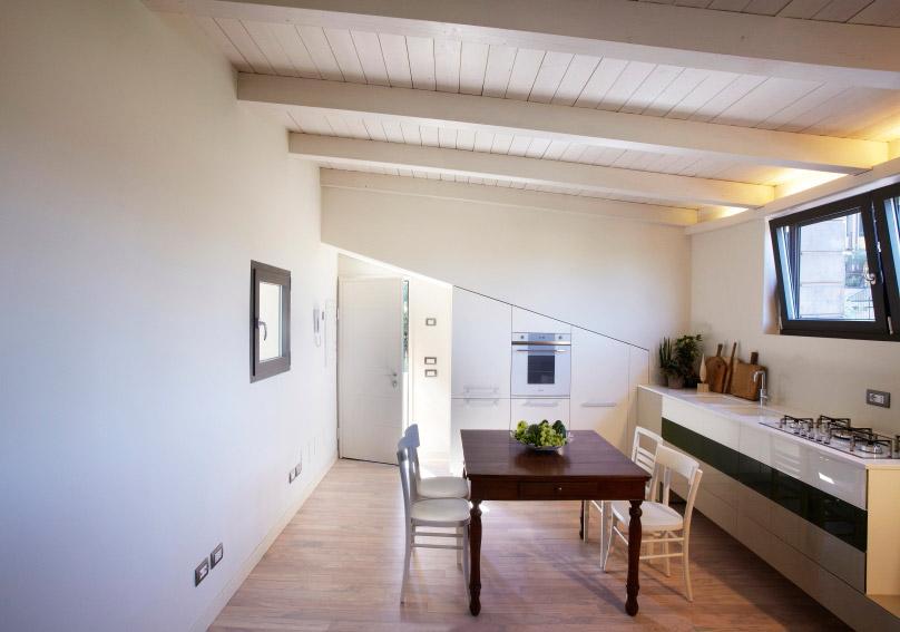Un loft per il weekend for Arredamento per sottotetto